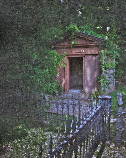 The crypt of L.B.Legare, in the graveyard of Edisto Presbyterian Church   Ghost Story of Julia Legare