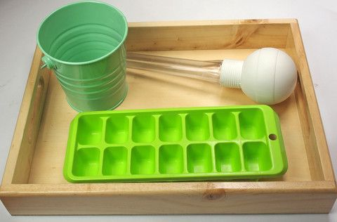 baster transfer with ice cube tray