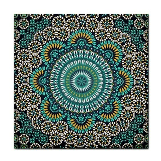 Moroccan Pattern Home Decor Feature Ceramic Wall Tile / Kitchen Coaster~ NEW in Home & Garden, Home Décor, Plaques & Signs | eBay