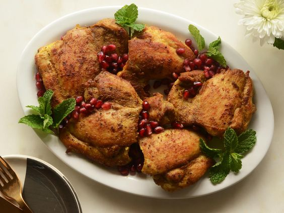 Pomegranate-Curry Chicken