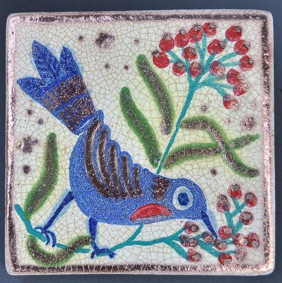 azulejo pajaro picando