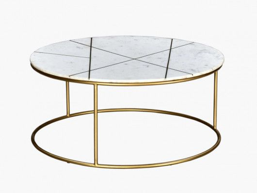 Table Basse Art Deco Marbre Et Metal Dore Ornea En 2020 Table Basse Table Basse Marbre Blanc Table Basse Marbre