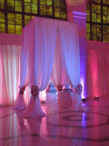 200 Peachtree Wedding. Chuppah created, designed by Perfect Petals,  Atlanta Wedding Flowers, Bridal Bouquets, Decorations, Lounge furniture, Chiavari Chairs, Chair covers, Grace Ormonde Platinum List. Wedding...