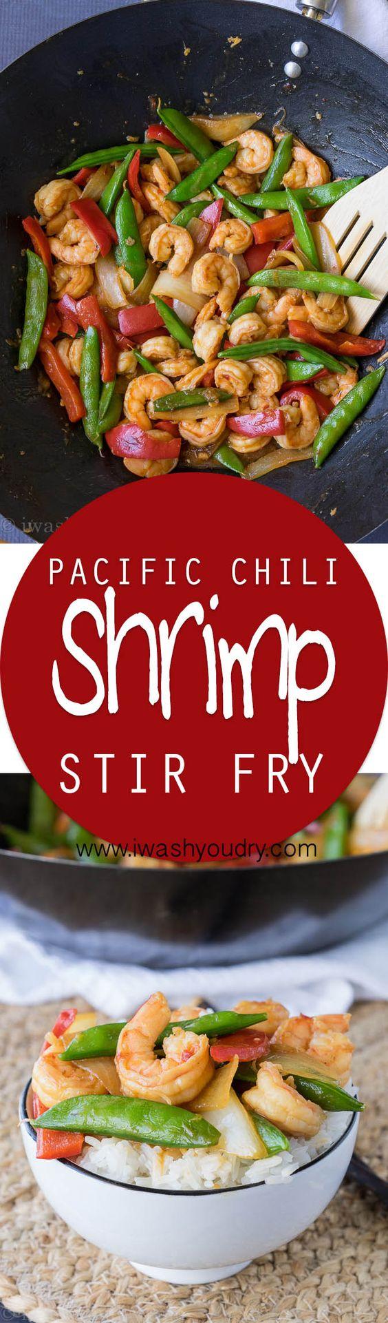Chili Shrimp And Asparagus Stir Fry Recipe — Dishmaps