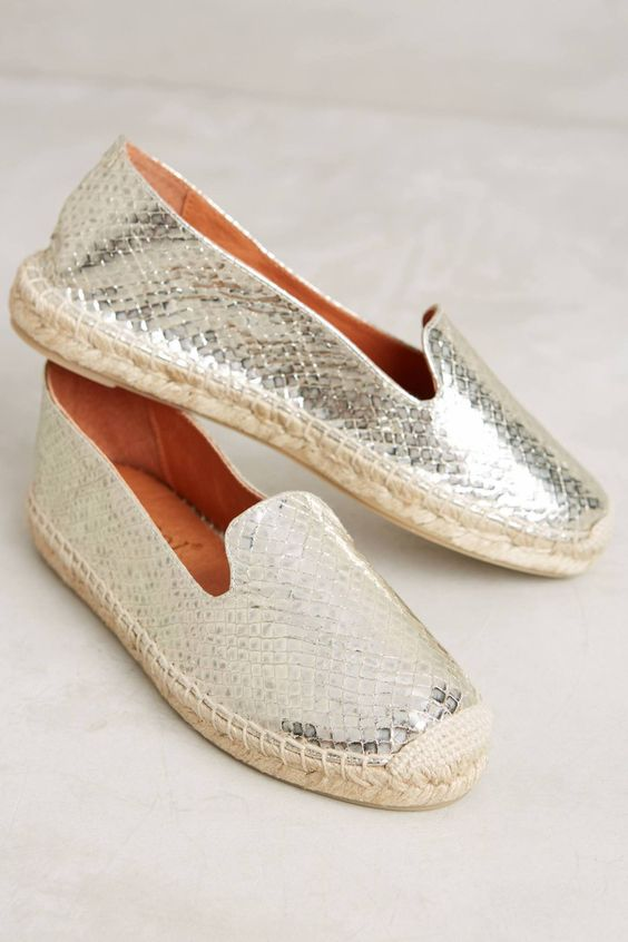 Maypol Skipper Platino Espadrilles #anthrofave #anthropologie: