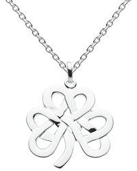 Kit Heath Large Sterling Silver Shamrock Necklace