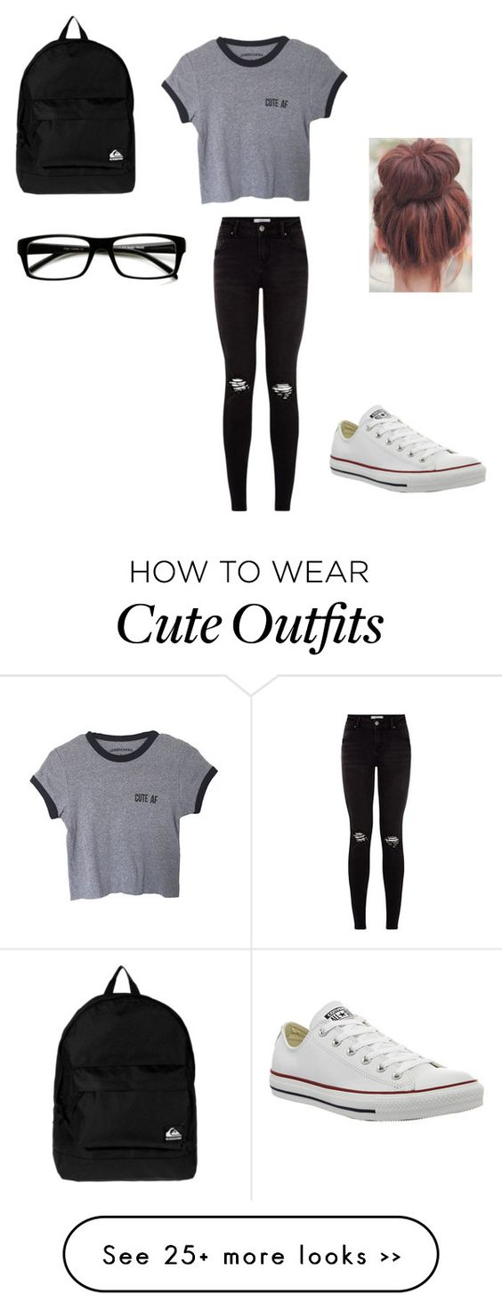 """""""simple cute school outfit"""" by giovannacastillo1209 on Polyvore"""