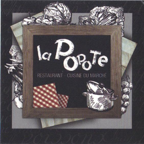 Restaurant La Popote, dans le bourg de La Forêt Fouesnant
