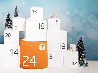 """This December I was hired by Village&Co. to help create an advent calendar for Tbooth Wireless. The image was built into a Facebook app called """"24 Days of Joy"""" that revealed a new deal every da..."""