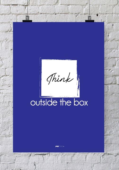 Isoler Combles 1€ : Affiche pour bureau Think outside the box  Decoration
