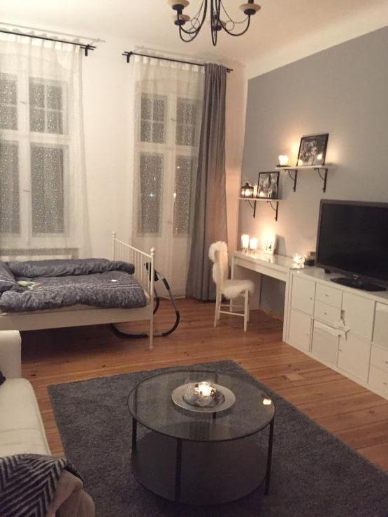 Kreativ eingerichteter Wohn- Schlafbereich in schöner 1-Zimmer - wohn schlafzimmer einrichten