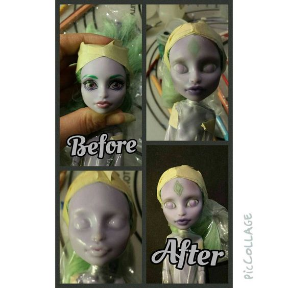 Another work in progress for this rainy day! I have three dollies now just waiting for hair and eyelashes to be posted for sale!! #twyla #monsterhigh #mh #monsterhighcustom #monsterhighdoll #monsterhighrepaint #repaint #repainteddoll #ooak #ooakrepaint #ooakmonsterhigh #customdoll #artdoll www.chrysaliscreation.etsy.com