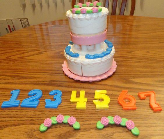 Fisher Price Fun With Food Create A Cake 1987 2152 Wedding Birthday #FisherPrice