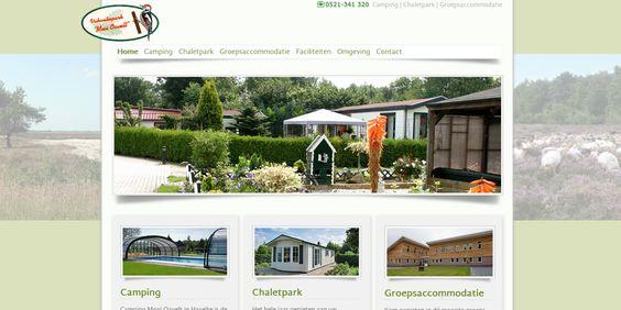 Centrale homepage voor het gehele park. Bezoeker kan van hieruit direct naar 1 van de 3 onderdelen.