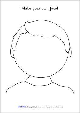 Blank Faces Templates SB1359 SparkleBox Boy ABC Easy As 123