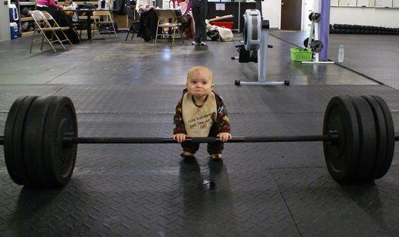 startin him young :)