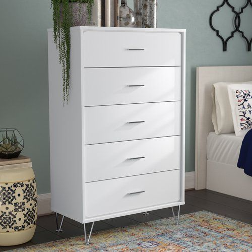 Ebern Designs Wolfe 5 Drawer Chest