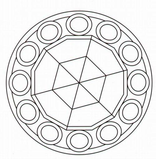 100 Figuras Geometricas Infantiles En Dibujos Para Ninos Formas Geometricas Mandala Coloring Pages Mandala Coloring Books Mosaic Patterns