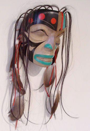 Shaman in a Trance Mask by Ken Mowatt, Gitxsan artist (W60202)