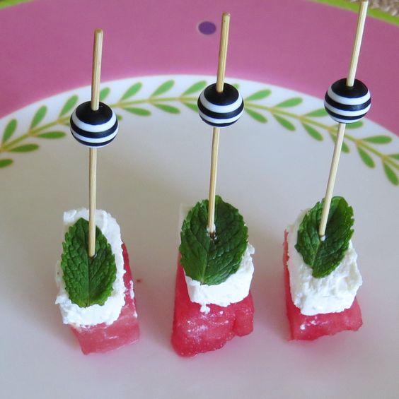 Watermelon, Feta & Mint with Stripy Bauble #twistepicks
