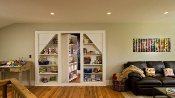 I want a hidden doorway book shelf...
