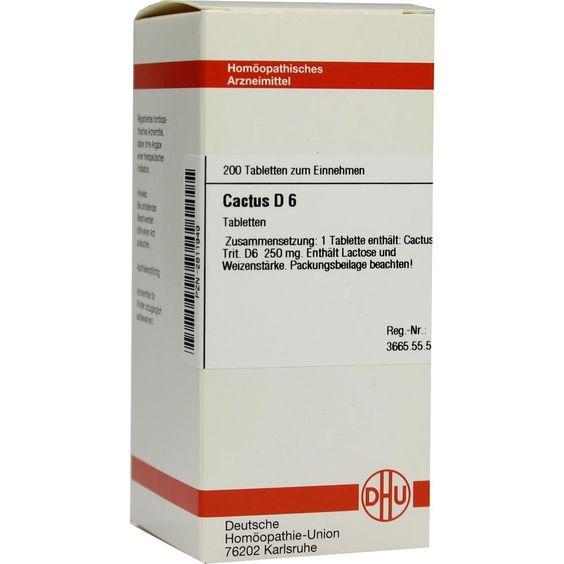 CACTUS D 6 Tabletten:   Packungsinhalt: 200 St Tabletten PZN: 02811949 Hersteller: DHU-Arzneimittel GmbH & Co. KG Preis: 10,19 EUR inkl.…