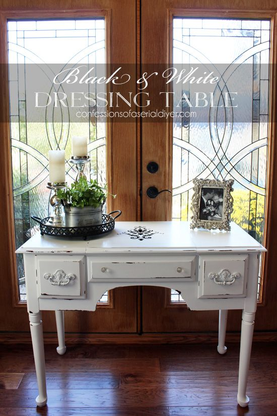 Black & White Dressing Table | Confessions of a Serial Do-it-Yourselfer