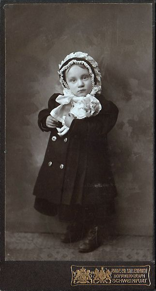 Antique Photograph ,  Girl and her doll: