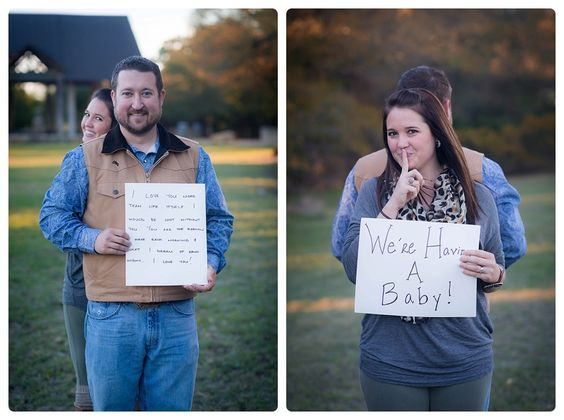 Surprise Baby Announcement See how this creative mamma to be – Pinterest Baby Announcement Ideas