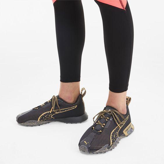 Puma H St 20 Metal Women S Running Shoes In Black Metallic Gold Size 3 5 Walking Shoes Women Womens Training Shoes Womens Running Shoes