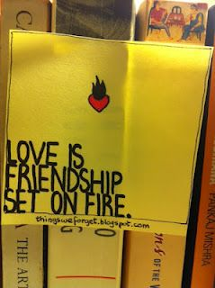 Love = friendship + spark.