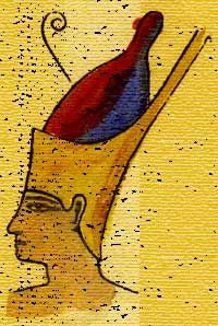 Pschent Crown - this crown was worn by Pharaohs to symbolize rule over both Upper and Lower Egypt. It is a combination of both crowns of Upper (outer) and Lower (inner) Egypt.