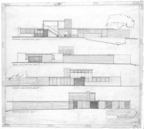 Richard neutra photographs and house on pinterest for Kaufmann desert house floor plan