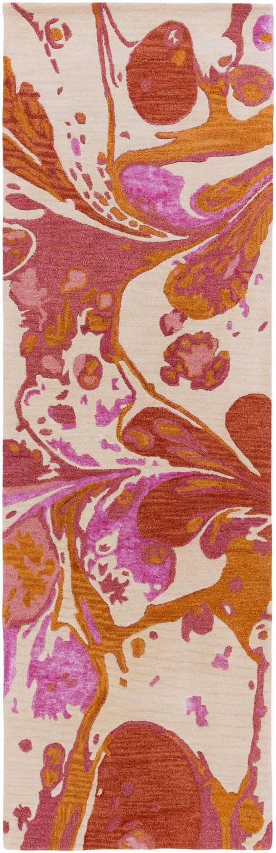 Surya BAN3359 Banshee Orange, Pink Runner Area Rug