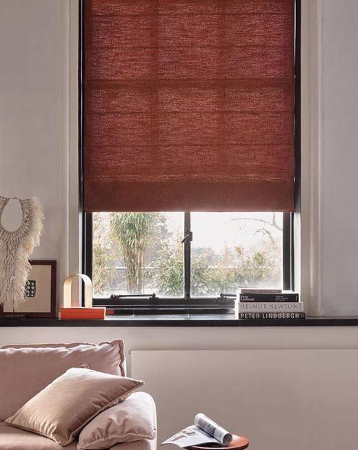 Rode Raamdecoratie Roman Blinds Blinds Elegant Living