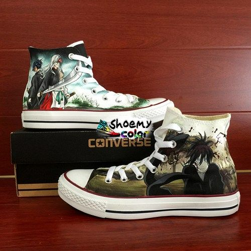 Noragami Converse All Star Shoes Hand Painted High Top