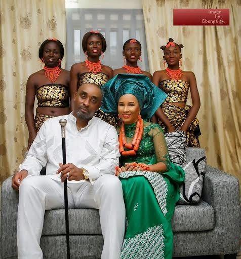 Official photos from actress Ibinabo Fiberesima's traditional wedding