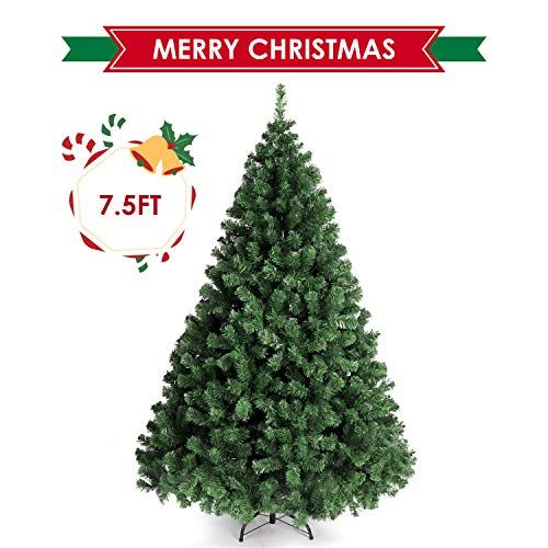 Amzdeal Christmas Tree 7 5ft Xmas Tree Spruce Artificial Christmas