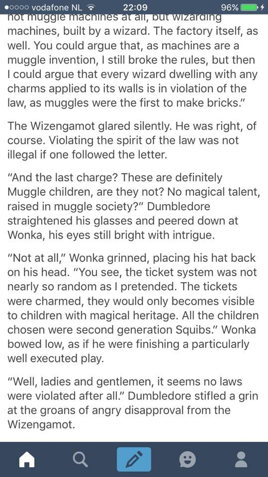 Willy Wonka Is Wizard And A Slytherin   Harry Potter
