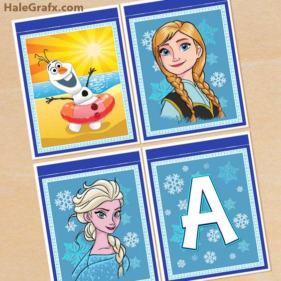 Frozen Birthday Banner Printable Frozen Banner Party By: FREE Printable Frozen Alphabet And Birthday Banner Pack