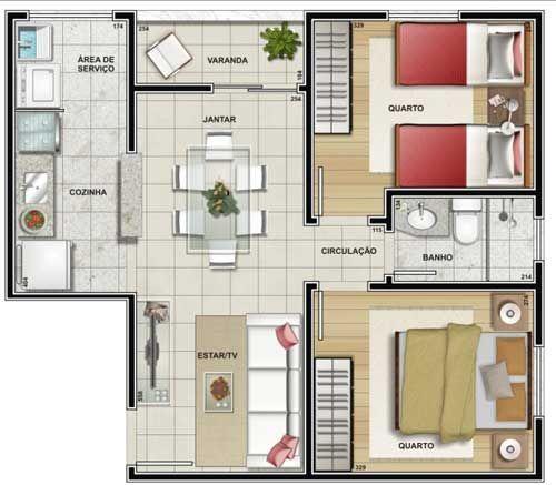 Planta de casa pequena casa playa pinterest quartos for Antejardines de casas pequenas