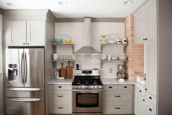 Pavement ikea cabinets and valspar on pinterest for Adel kitchen cabinets