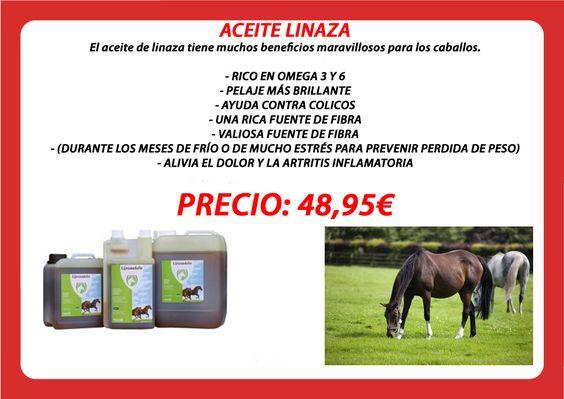#aceite #linaza para #caballos todo #beneficios. Disponible en : www.totcavall.com