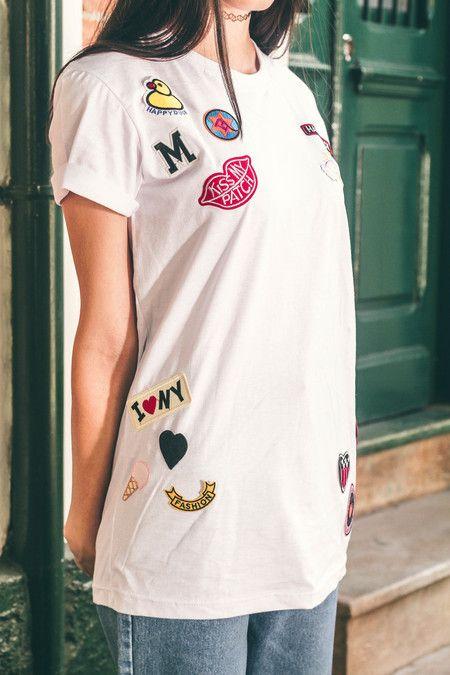 Camiseta 90's Patchs: