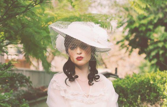 Vintage inspired picture brim hat