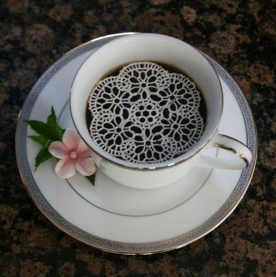 Edible, sugar lace for or tea...So Pretty!