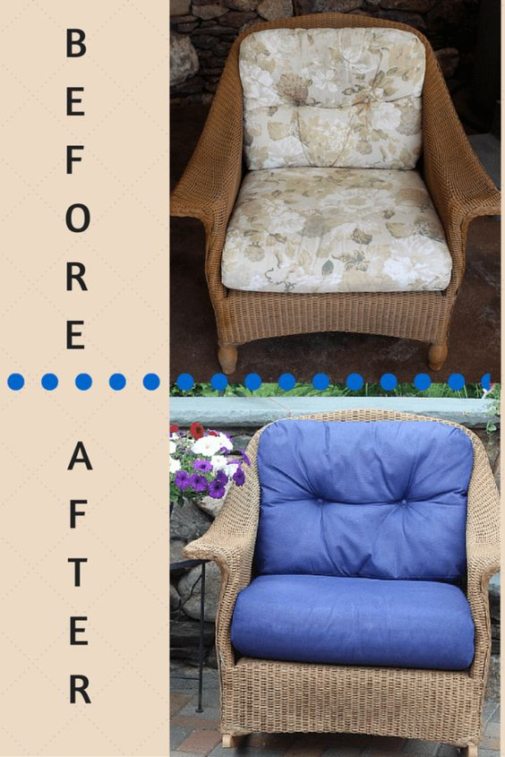 $40 No Sew Patio Furniture Makeover | LuckyScarf
