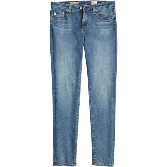 ADRIANO GOLDSCHMIED AG 16 Year Prima Skinny Cigarette Jean (2.605 ARS) ❤ liked on Polyvore featuring jeans, pants, skinny leg jeans, distressed jeans, destroyed jeans, skinny jeans and torn skinny jeans