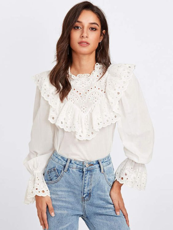 49 Lace Blouses To Wear Today outfit fashion casualoutfit fashiontrends
