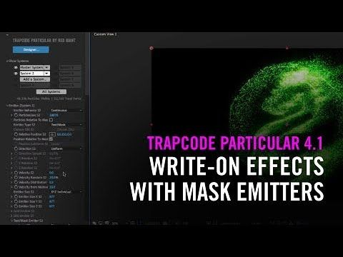 Write On Effects With Mask Emitters In Trapcode Particular 4 1